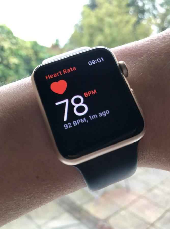 COVID-19 symptoms in Apple Watch