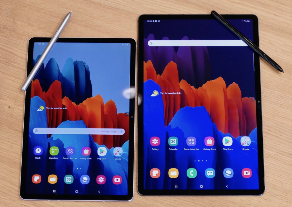 Galaxy Tab S7 and S7+